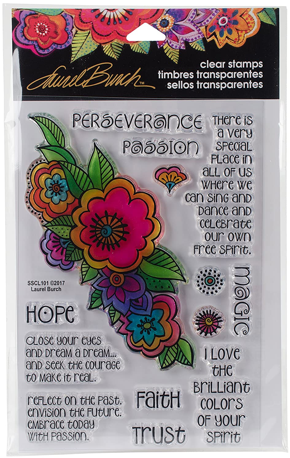 Stampendous Laurel Burch Stamps Floral Reflections