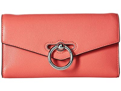 Rebecca Minkoff Jean Wallet On Chain (Grapefruit) Wallet Handbags
