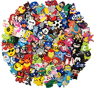 22,50,62,100pcs Different Lovely PVC Shoe Charms for shoe Decoration And Bands Bracelet with holes Party Gift
