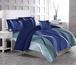 RADANYA 300 TC 100% Cotton Double Bedsheet with 2 Pillow Covers,Blue
