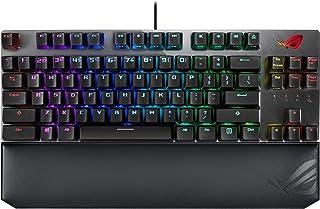 ASUS ROG Strix Scope TKL DLX - Teclado mecánico para Gaming (Cable, Interruptor Cherry-MX, sin Teclado numérico, reposamuñ...