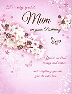 """to a Very Special Mum Birthday Card - Size 6"""" X 8"""""""