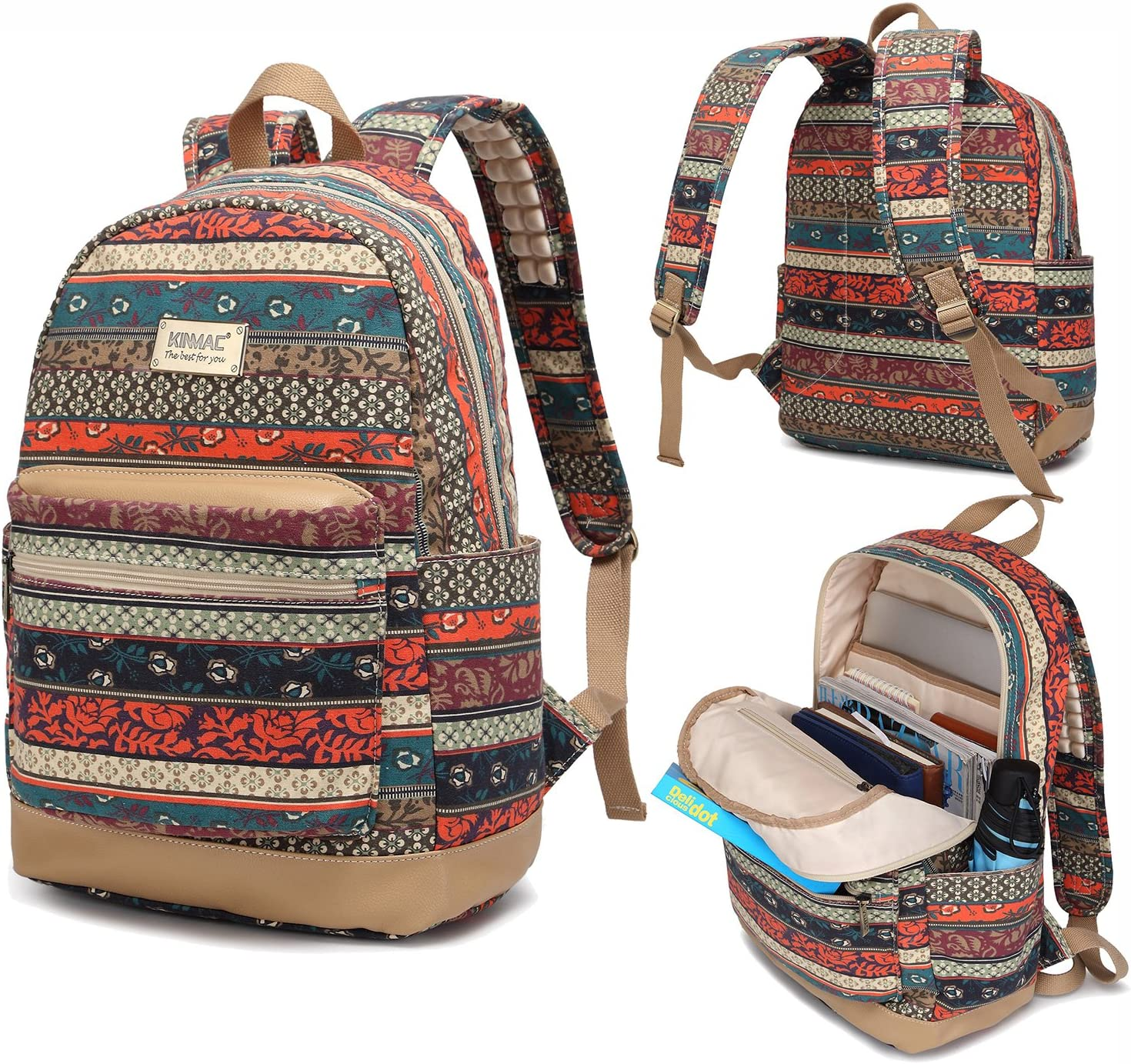 Kinmac New Bohemian Water Resistant Backpack Massage Reservation with Laptop Outstanding