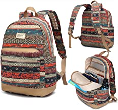 Kinmac New Bohemian Waterproof Laptop Backpack with Massage Cushion Straps and USB Charging Port for Laptop Up to 15.6 Inc...