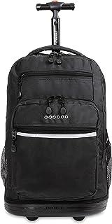 J World New York Sundance Laptop Rolling Backpack, Black, One Size