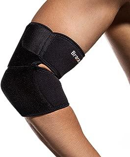 BraceUP® Adjustable Elbow Support,  One Size Adjustable (Black)