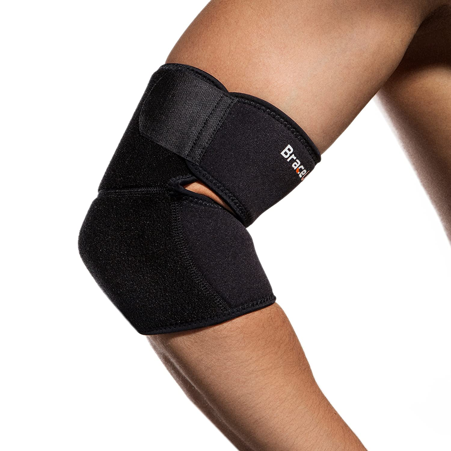 BraceUP® Adjustable Under blast sales Elbow Support Shipping included Black Size One