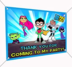 Teen Titans Go Banner Large Vinyl Indoor or Outdoor Banner Sign Poster Backdrop, party favor decoration, 30
