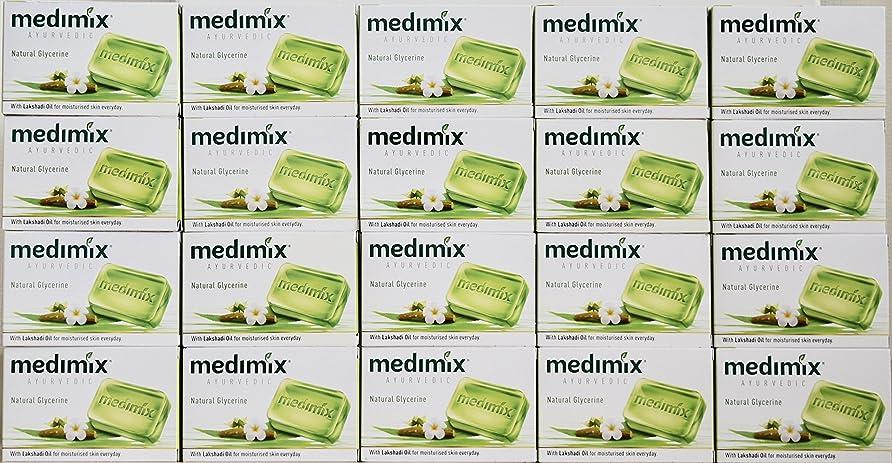 つかまえる必要とする爆発物メディミックス MEDIMIX ナチュラルグリセリン(旧クラシックライトグリーン)石鹸 20個入り 125g