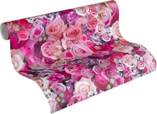 A.S. Création Non-Woven Wallpaper Urban Flowers 10.05 m x 0.53 m Purple Made in Germany 327221 32722-1