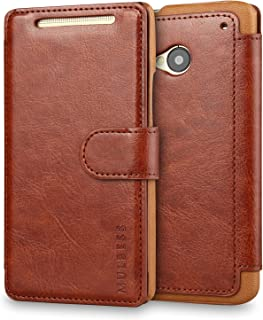 M7 Case,HTC One M7 Case Wallet,Mulbess [Layered Dandy][Vintage Series][Coffee Brown] - [Ultra Slim][Wallet Case] - Leather Flip Cover with Credit Card Slot for HTC One M7
