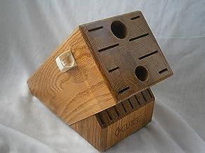 product image for CUTCO Wooden Knife Block Storage Holder - HOMEMAKER + 8 Honey Oak Wood 18 Slot #1748