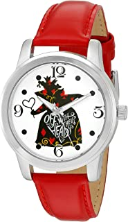 Disney Women's 'Alice in Wonderland' Quartz Metal Watch, Color:Red (Model: W002898)
