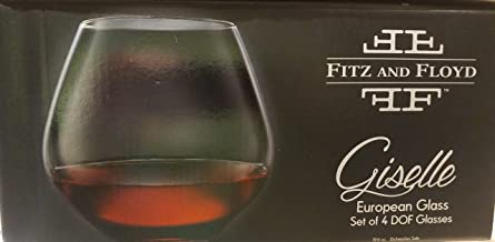 Fitz and Floyd Giselle Stemless Wine Glass Set
