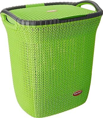 Nayasa Rope Laundry Basket - Multipurpose Basket - Plastic Laundry Basket - Small - Peach