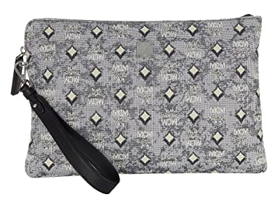MCM VINTAGE Jacquard Medium Zip Pouch with Wristlet
