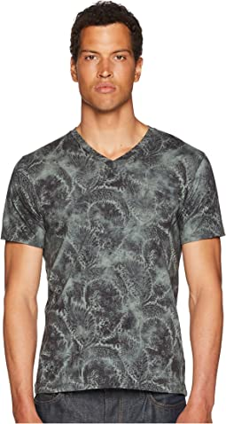 Printed V-Neck T-Shirt