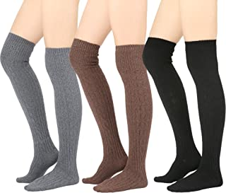 Winter Cozy Cable Knit Over The Knee High Boot Socks