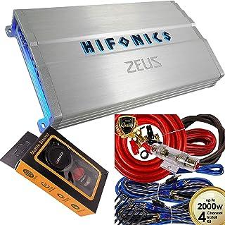 $169 » Hifonics ZG-1200.4 Zeus Gamma 1200w 4-Channel Car Audio Amplifier Class A/B Amp with 4 Channels 4 Gauge Amplifier Kit Red ...