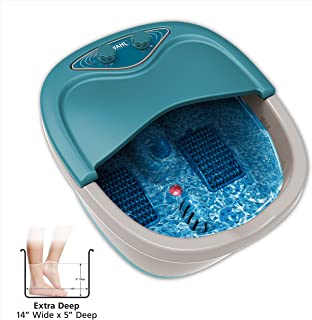 Wahl Therapeutic Extra Deep Foot & Ankle Heated Bath Spa - Heat, Vibration Massage, Bubble Jet Action, Soothes, & Relaxes Overworked Aching Feet - 4205