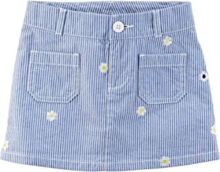 Carter's Girls' Jersey Skorts (3T, Embroidered Twill)