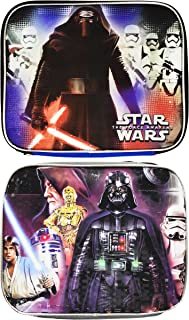 Fast Forward New York Set of Kylo Ren and Darth Vader Themed Lunch Boxes! - Insulated - Reusable Lunch Boxes for Kids! (2, Kylo Ren and Darth Vader)