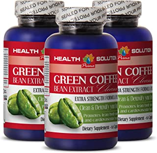 Cayenne Pepper Organic - Green Coffee Bean Extract Cleanse - Organic Green Coffee Bean Extract for Weight Loss 3 Bottles 1...