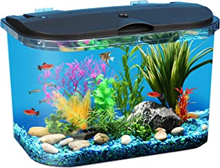 Koller Products Panaview 5-Gallon Aquarium Kit – Power Filter – LED Lighting,..