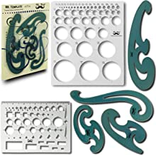 Mr. Pen- French Curve and Template Ruler Set(6 Pc), Stencils, Drawing Template for All..
