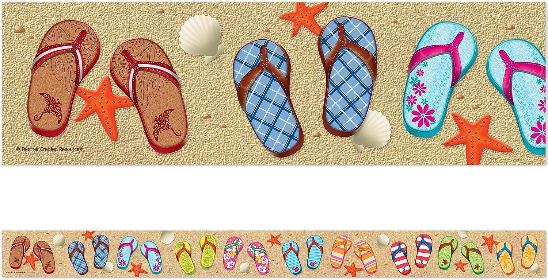 Gifts Teacher Created Resources Flip Flops Straight Max 85% OFF 5648 Trim Border