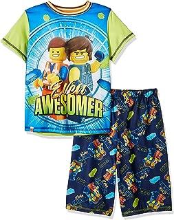 LEGO Movie 2 Boys Pajama, 2 Piece P J Set, Short Sleeve