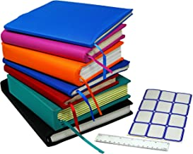 Stretchable Jumbo Book Covers 7 Pack Individual Colors Book Suits fits Hardcover Textbooks up To 9.5