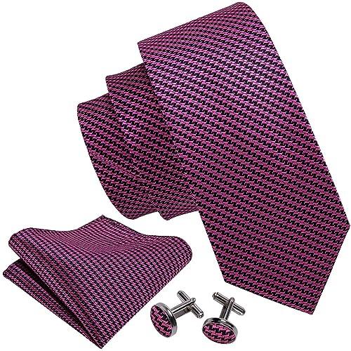 5078420f8a3b Wang Mens Ties Novelty Silk Tie Hanky Cufflinks Set Woven Designer