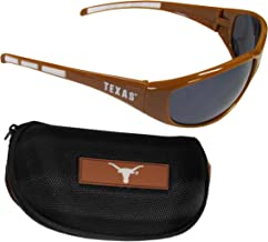 Siskiyou NCAA Texas Longhorns Wrap Sunglasses & Zippered Case Orange