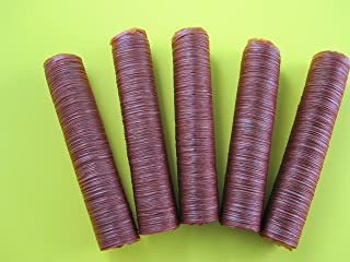17 mm SLIM snack stick casings for homemade snack Slim Jim sausage. Just add beef, venison, pork etc. ENOUGH Casings for 23 lbs of meat. 5 strands per pack