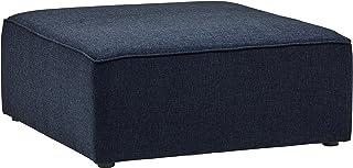 comprar comparacion Marca Amazon -Rivet Audrey - Otomana, 99 cm de ancho (azul vaquero)