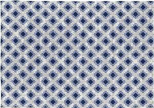 Rugs&Rugs Ontario Alfombra Decorativa De Algodón En Estampación Digital, Azul/Gris, 120 X 170 Cm