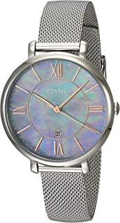 Fossil Women's ES4322 Jacqueline Analog Quartz Silver-Tone Watch