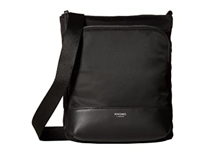 KNOMO London Mayfair Carrington Utility Crossbody (Black) Cross Body Handbags