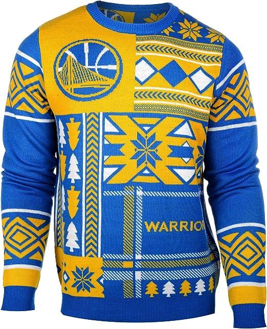 Mens Golden State Warriors Gingerbread Christmas Jumper