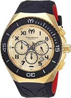 Technomarine Men's 'Manta' Quartz Stainless Steel and Silicone Casual Watch