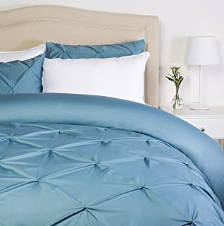Pinzon Pinch-Pleat Duvet Cover Set, King, Flint Blue