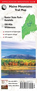 AMC Map: Baxter State Park - Katahdin and 100-Mile Wilderness: Maine Mountains Trail Map