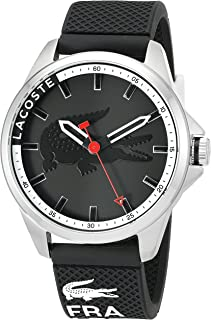 Lacoste Men's Quartz Watch with Black Dial Analogue Display and Black Silicone Strap 2010840