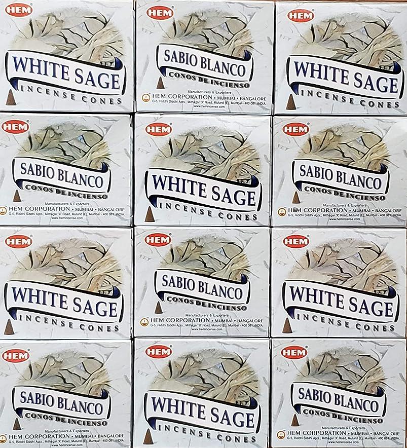 ボトルネック吸収投資お香 ホワイトセージ 12箱入り コーンタイプ 送料無料