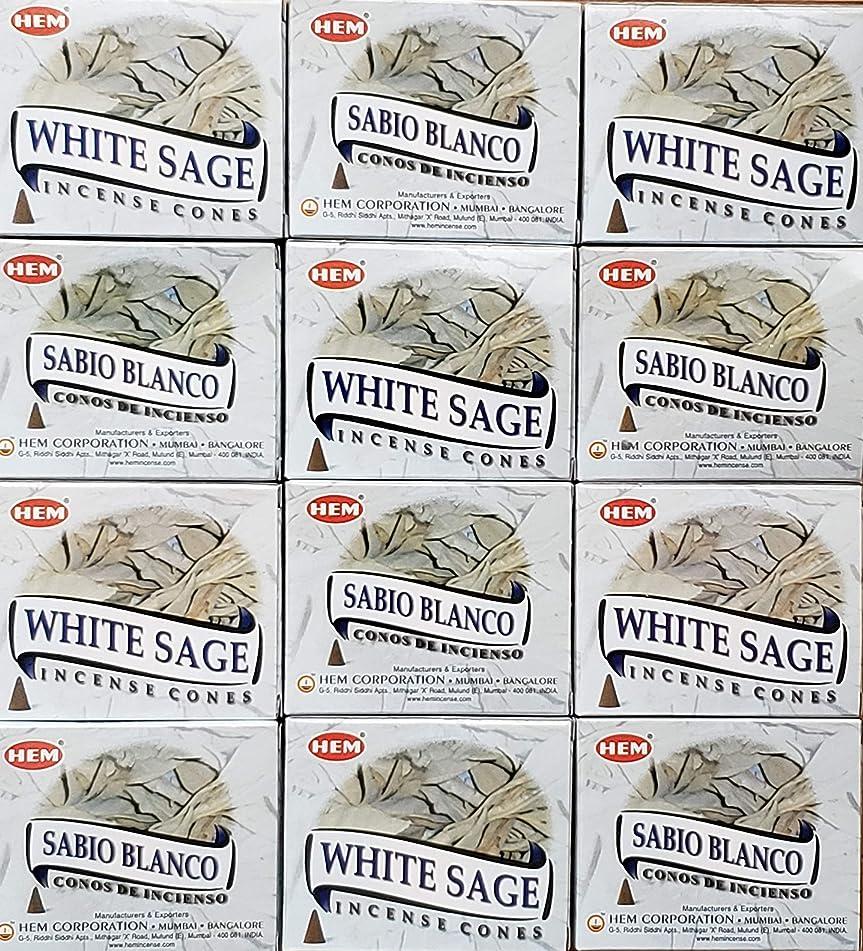 助けになる一杯一杯お香 ホワイトセージ 12箱入り コーンタイプ 送料無料