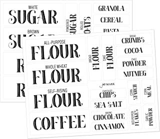 Pantry Labels for Kitchen Organization and Storage, Clear Stickers (Set of 36) by Jot & Mark