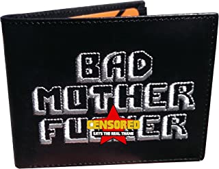 BMF Embroidered Genuine Leather Wallet SILVER Version Authentic BMF