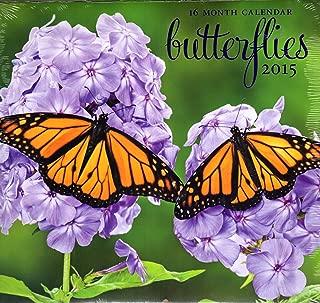 Butterflies - 2015 16 Month Calendar + Free Bonus 2015 Magnetic Calendar