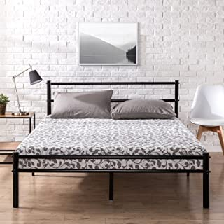 Zinus Geraldine 12 inch Black Metal Platform Bed Frame with Headboard and Footboard / Premium Steel Slat Support / Mattress Foundation, Full